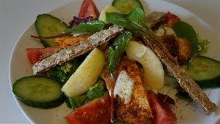 salade minceur au poulet  ( CUISINERAPIDE)