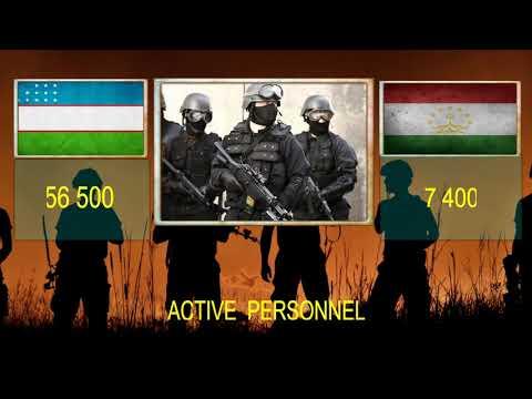 UZBEKISTAN VS TAJIKISTAN   Military Power Comparsion .