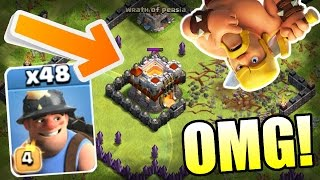 Clash Of Clans - TROLLING TITANS!! - BLACK HOLE TROLL BASE vs MAX TROOPS 2016!