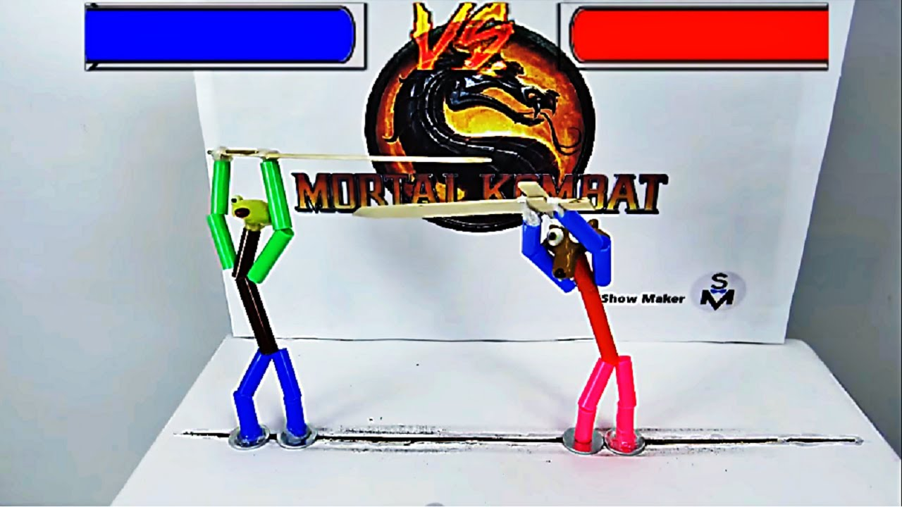 How to Make MORTAL KOMBAT Game from Marker and Cardboard