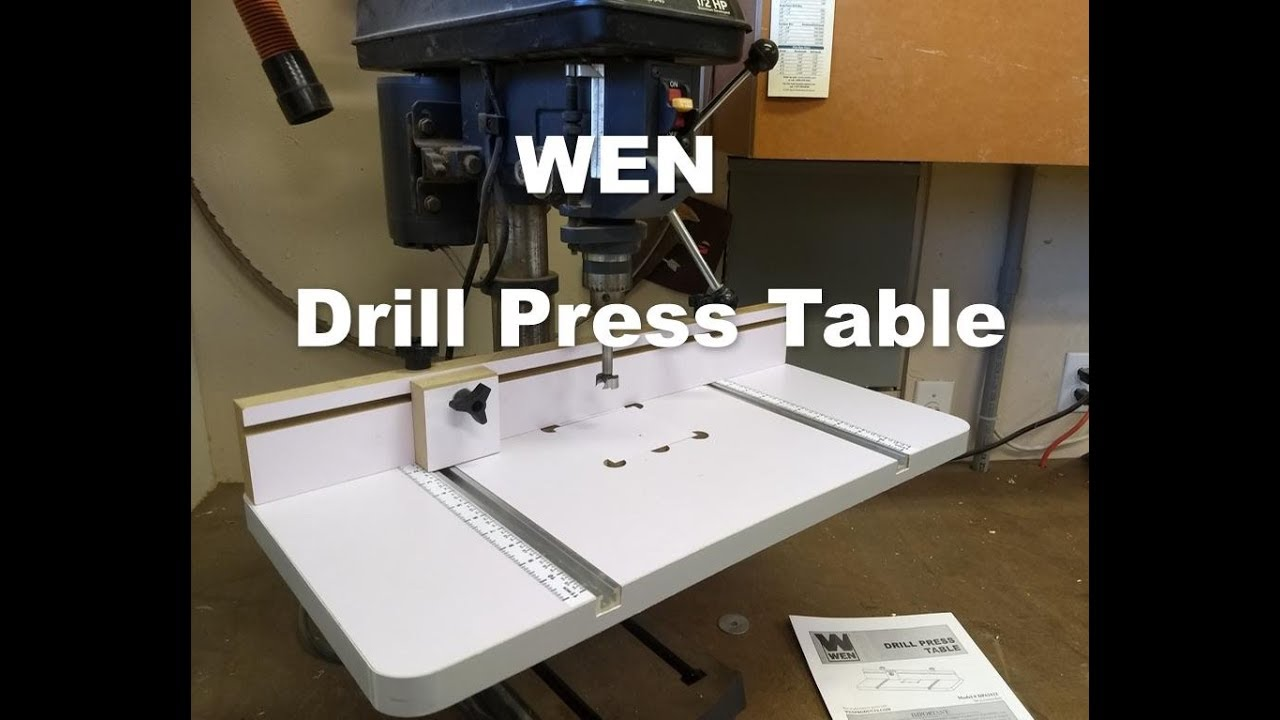 Wen Drill Press Table Review Youtube