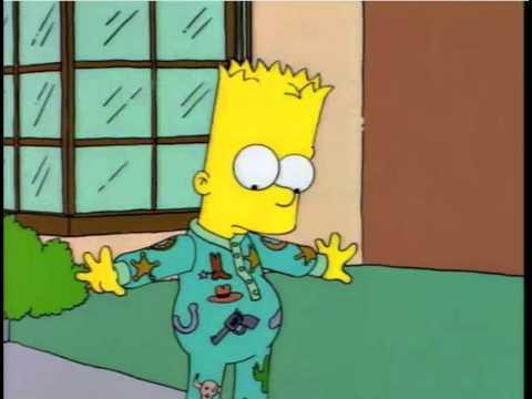 Bart Outside In Pyjamas