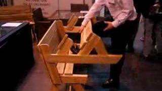 The Folding Table Garden Bench Which Converts To A Picnic Table And Benches