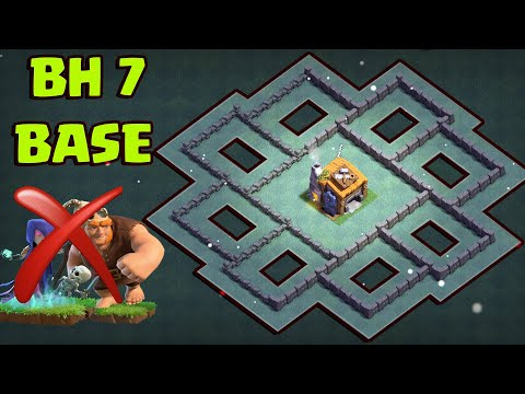 """""""STRONGEST"""" COC BUILDER HALL 7 (BH7) BASE ANTI 2 STAR W / PROOF   ANTI ALL TROOPS 2019"""