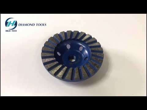 HIGH-TECH Diamond Turbo Grinding Cup Wheel, Diamond Turbo Wheel, Iron Based Turbo Diamond Cup Wheel