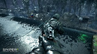 VERY EPIC Night Stealth Gameplay from FPS Game Sniper Ghost Warrior 3