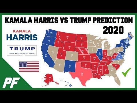 Kamala Harris vs. Donald Trump 2020 Map Prediction - 2020 Electoral ...