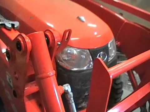 straightening a Kubota L3800 bucket level indicator