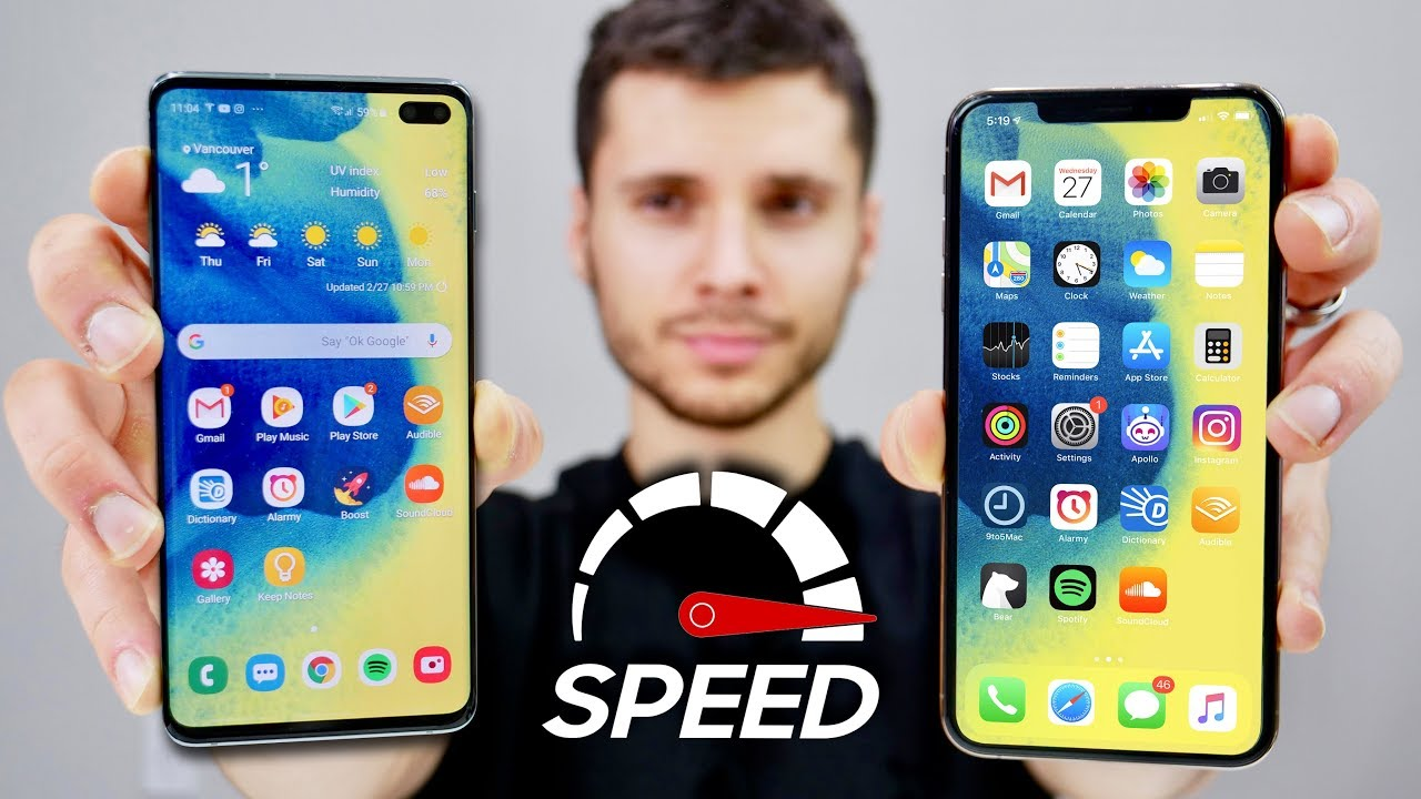 Samsung Galaxy S10 Plus vs iPhone XS Max Speed Test! (Exynos 9820)