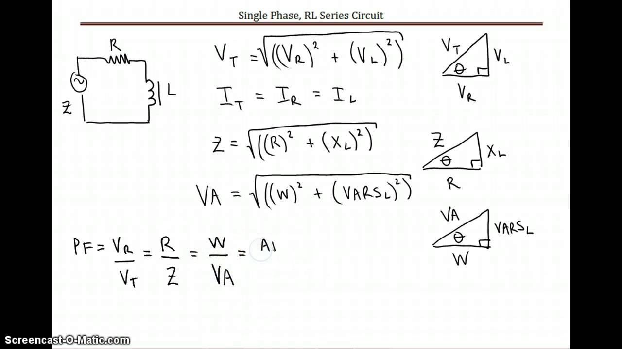 rl series circuit equations sample calculation advanced theory rh youtube com series circuit resistance calculator series circuit calculate current