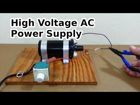 DIY High Voltage AC Power Supply