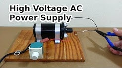 DIY High Voltage AC Power Supply