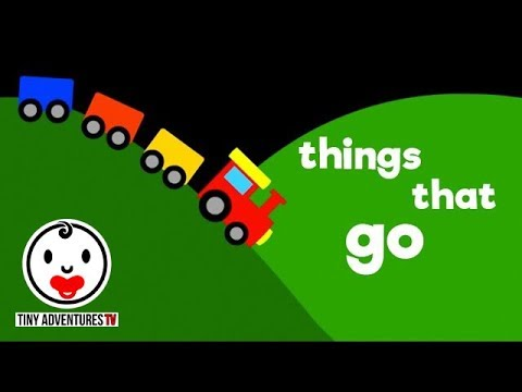 Baby Sensory | Things that go (Infant Visual Stimulation Video for Baby)