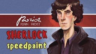 Speedpaint: Sherlock BBC (Illustration  style of grotesque )