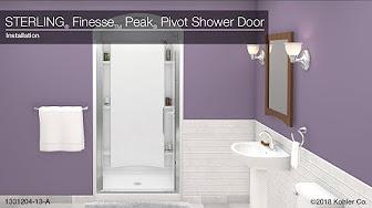step by step shower door installation | STERLING Shower Door Installation - YouTube