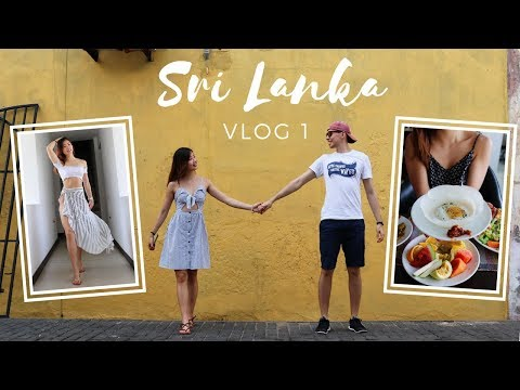 WHAT WE EAT & DO IN SRI LANKA! TRAVEL VLOG 1 (Bentota, Galle)