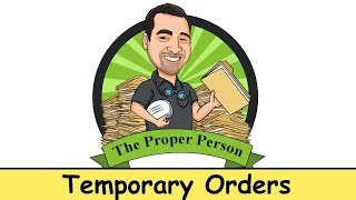 High Conflict Child Custody: Temporary Orders