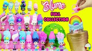 Blume Dolls Full Collection Grow Your Own Dolls Squishy Hair Cupcake Kids Club