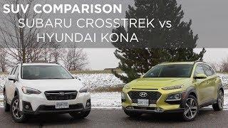 SUV Comparison   Hyundai Kona vs Subaru Crosstrek   Driving.ca