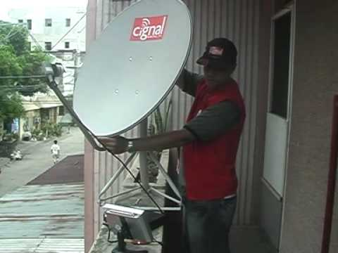 Cignal Satellite Installation Part 2 Youtube
