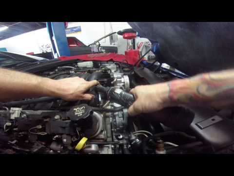 chevy corvette intake removal and check valve replacement