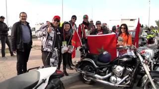 مسيرة الدراجين المغاربة رسالة محبة لقضايا خيرية