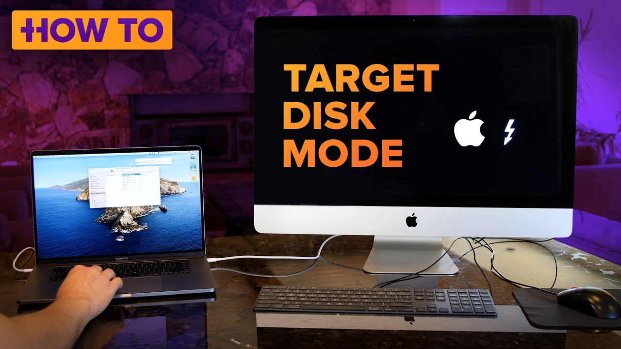 How to use Target Disk Mode with a Thunderbolt 3 USB-C cable