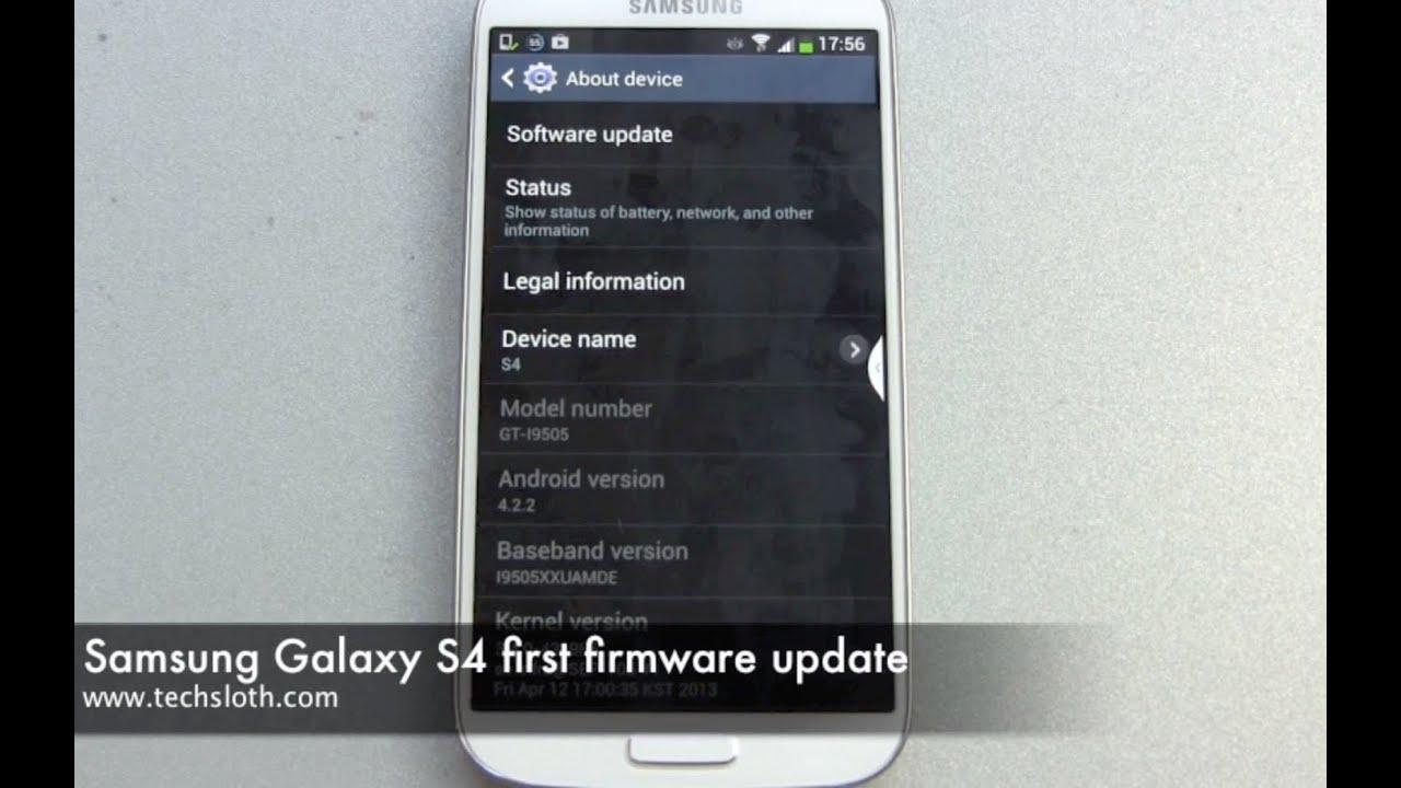 Samsung Galaxy S4 first firmware update