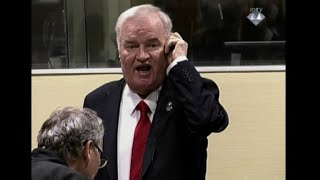 Agitated Mladic ordered dragged from courtroom thumbnail
