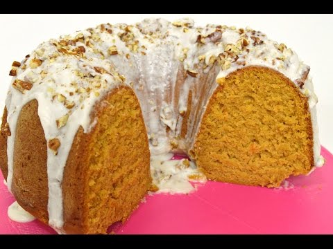 Holiday Series| Sweet Potato Pound Cake With Rum Glaze & Pecans |Cooking With Carolyn