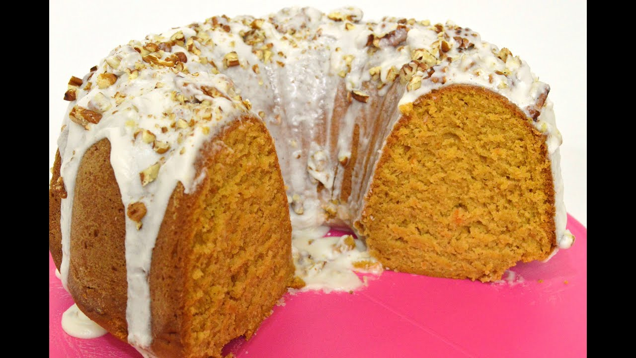 SWEET POTATO POUND CAKE with RUM GLAZE and PECANS |Holiday Series |Cooking With Carolyn