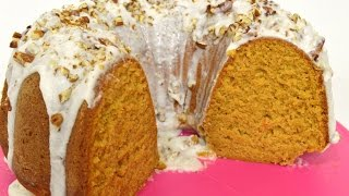 Holiday Series  Sweet Potato Pound Cake with Rum Glaze & Pecans  Cooking With Carolyn