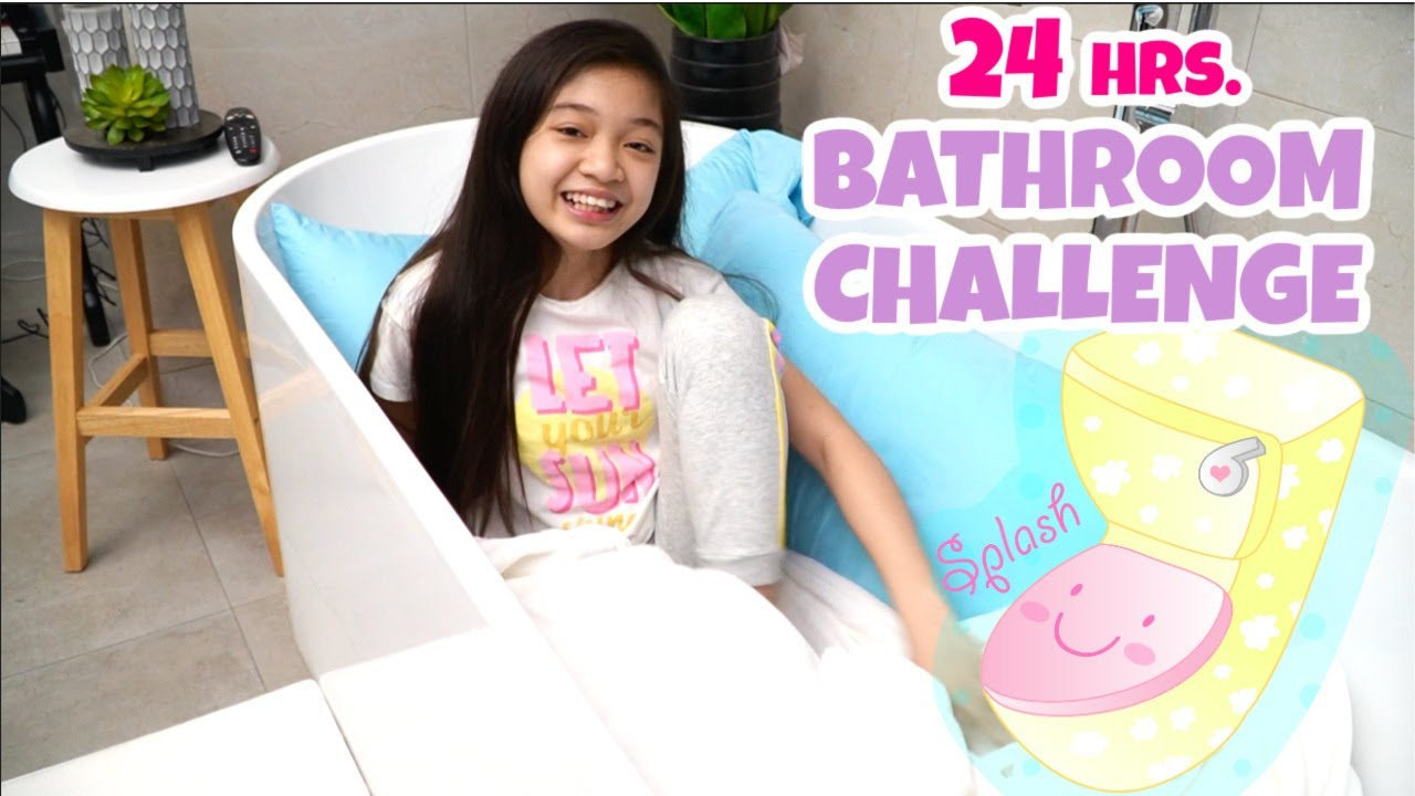 24 HOURS in the BATHROOM CHALLENGE | KAYCEE WONDERLAND
