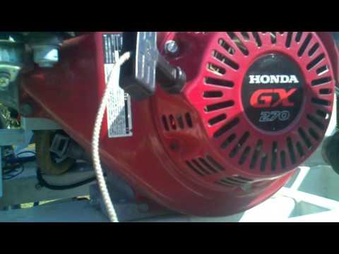 Honda GX-270 engine problems