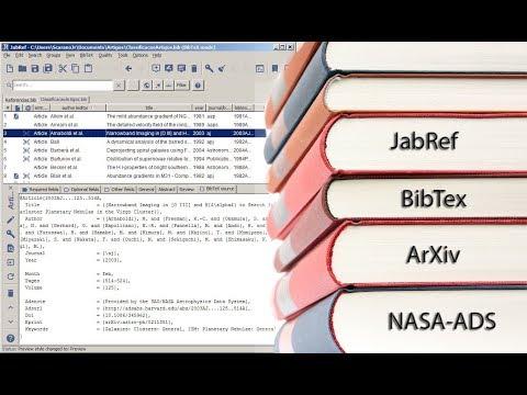 Gerenciando Referências Bibliográficas com o JabRef: Fontes BibTex a partir do ArXiv e do NASA-ADS