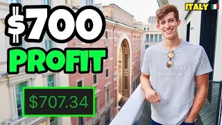 $700 Profit Day Trading In Italy | Investing For Beginners