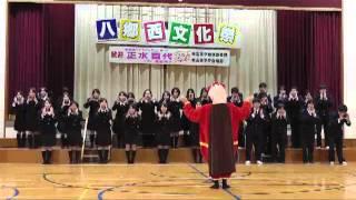 文化祭で合唱.