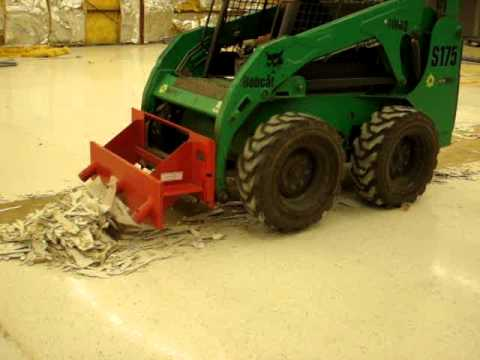 Floor Tile Removal With A Skid Steer Scraper Attachment YouTube - Used floor scraper machine for sale