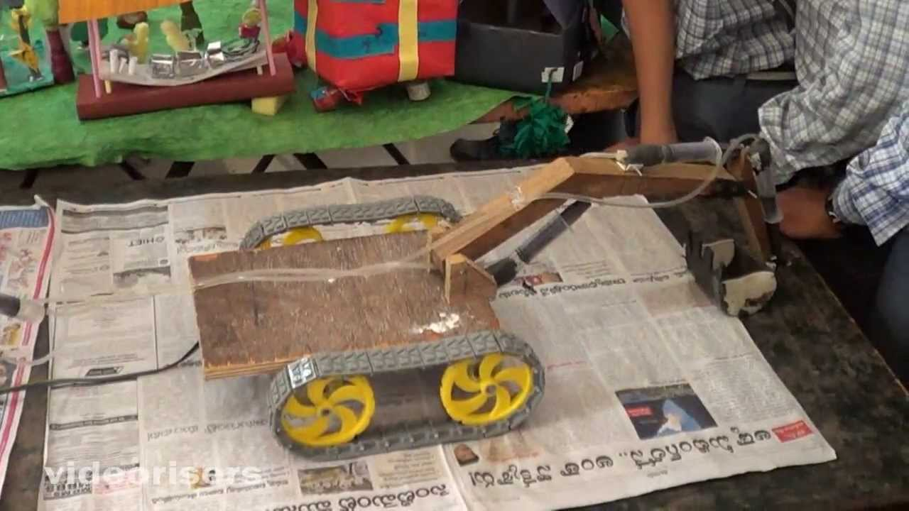 How to make jcb procliner with waste materials ist prize in inspire science exhibition 2013 for Best out of waste models
