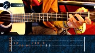 """Cómo tocar """"Mi Corazón Encantado"""" de Dragon Ball GT en Guitarra (HD) Tutorial Punteo - Christianvib"""
