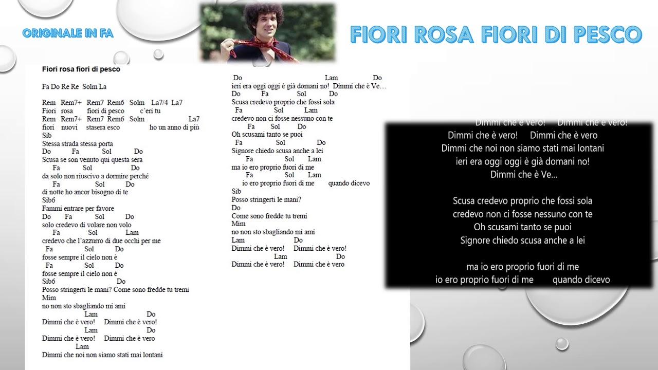 Fiori Rosa Fiori Di Pesco Testo.Fiori Rosa Fiori Di Pesco Testo Accordi E Melodia Chords
