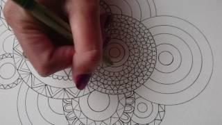 Mandala coloring page. Start to finish. Tutorial ✒