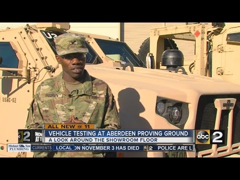 All new vehicle testing at Aberdeen Proving Ground