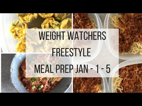 Weight Watchers  FreeStyle Meal Prep Week Jan 1 - 5th
