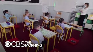 School students around the world return to class, COVID-19-safe classrooms are the new normal