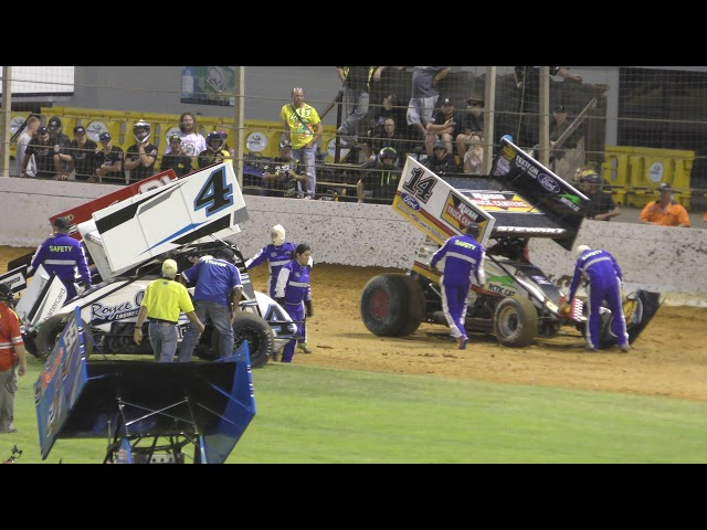 Tony Stewart Western Springs Speedway Crash