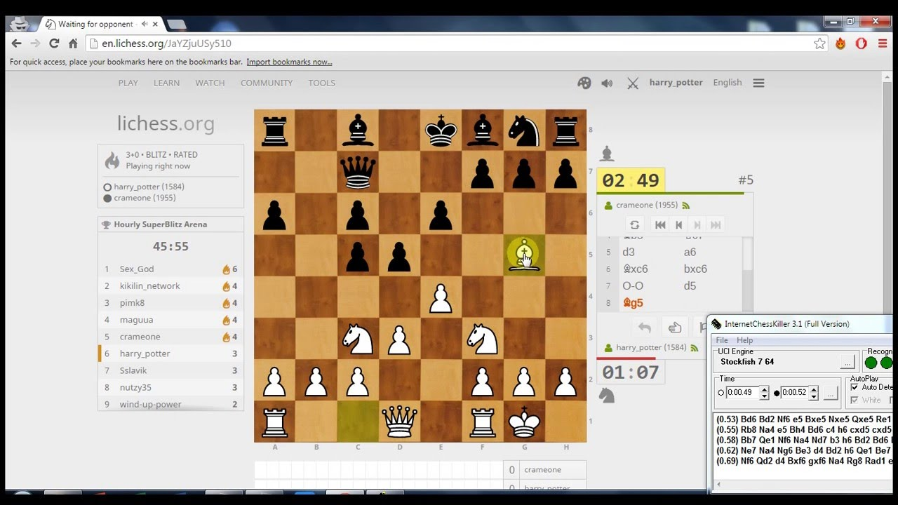 How to cheat on Lichess - Chess Bot by Innocuent