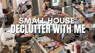 Extreme declutter with me | Getting rid of so much stuff | Small home Declutter and clean with me !