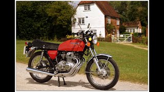 1975 Honda 400 Four, recently restored with 8,800 miles, walk around & start up.