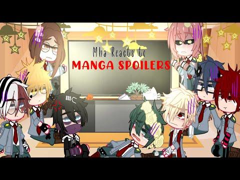 Past Mha React To Manga Spoilers! [ Manga Spoilers Obv ] | Bkdk | { Read Description}